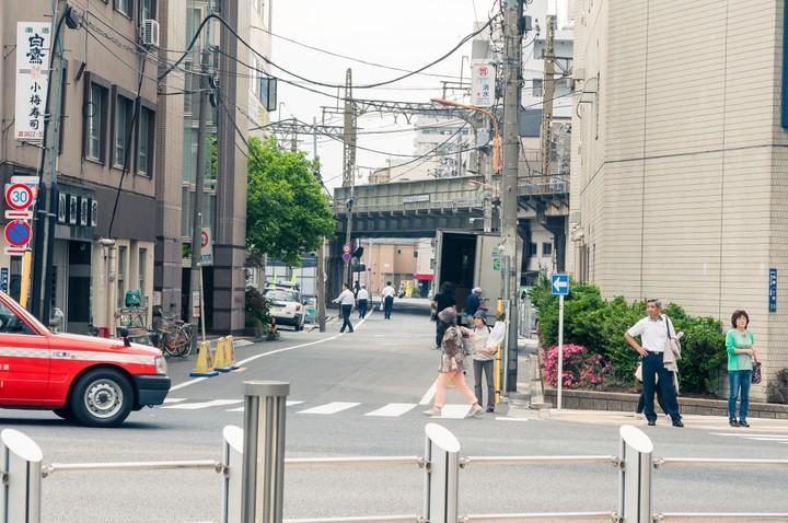 Railway bridge in Tokyo