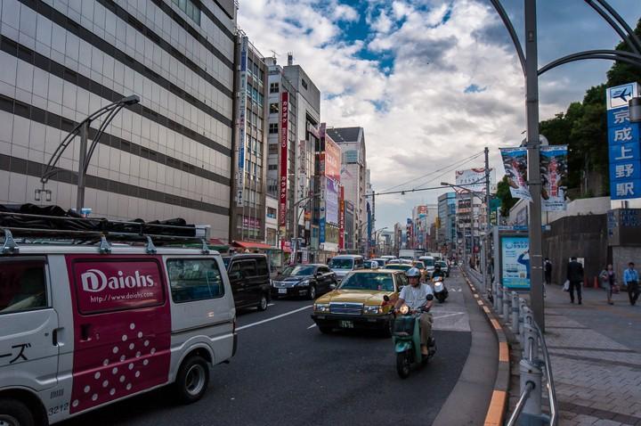 Tokyo streetscape near Ueno station