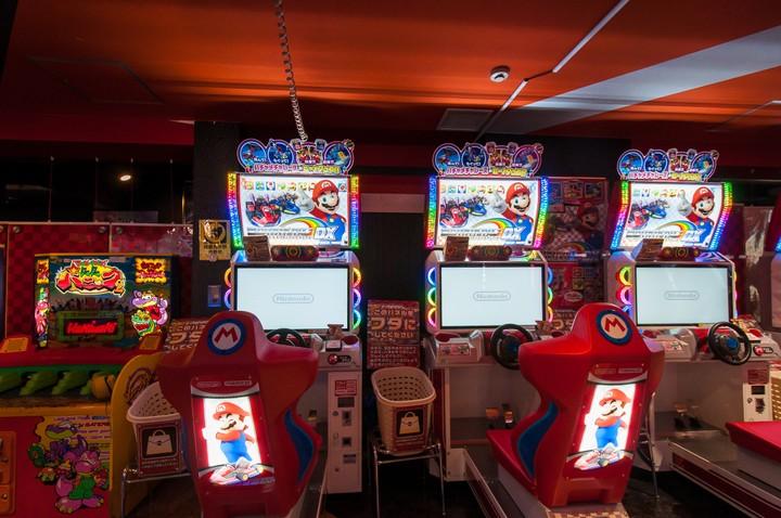 Mariokart videogame in Sega game tower in Akihabara