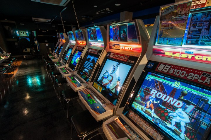 Videogames in Sega game tower in Akihabara