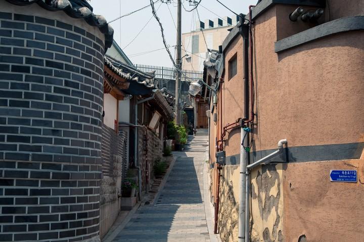 Stairs in Bukchon Hanok Village