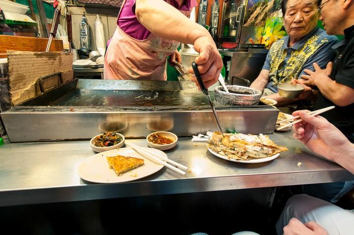 Korean Pancakes at Gwangjang market