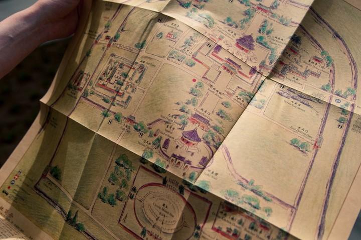 Map of Temple of Heaven in Beijing
