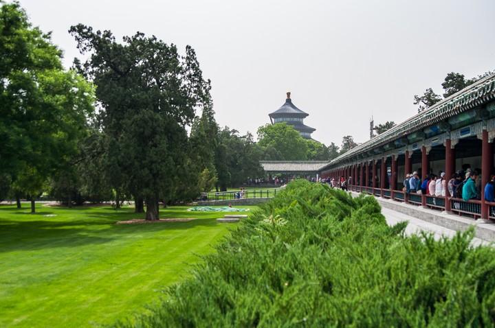 Long corridor at the Temple of Heaven in Beijing