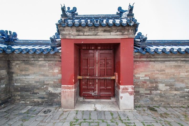 Sixty-year old door at the Temple of Heaven in Beijing