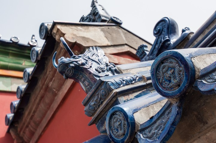 Roof ornaments at the Temple of Heaven in Beijing