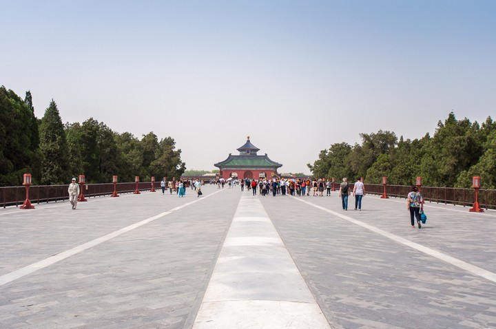 View of the North Heaven gate at the Temple of Heaven in Beijing