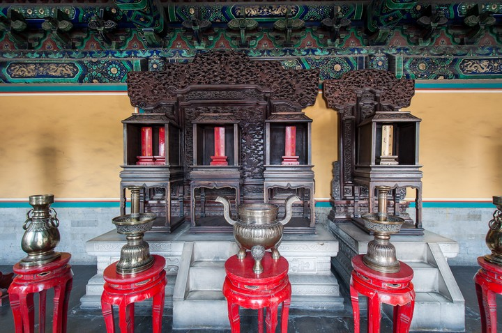 Altars at the Temple of Heaven in Beijing