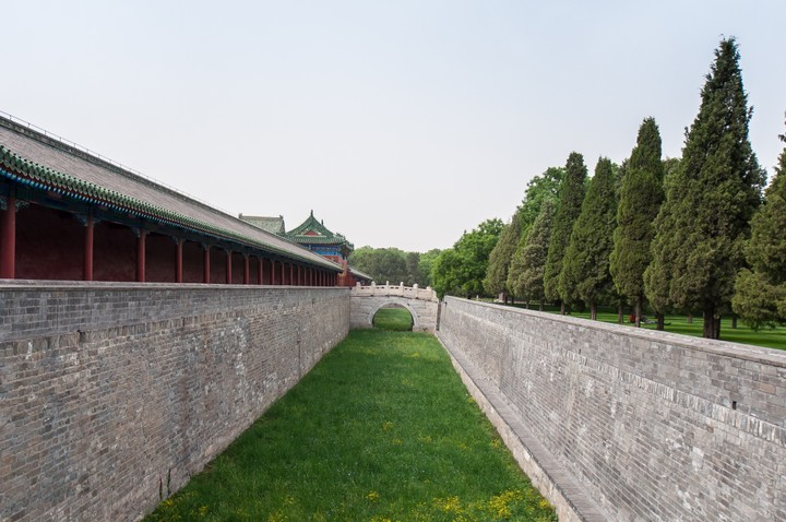 Dried up mote at the Temple of Heaven in Beijing