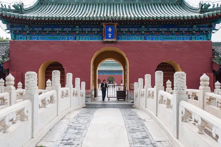 Closed gate at the Temple of Heaven in Beijing