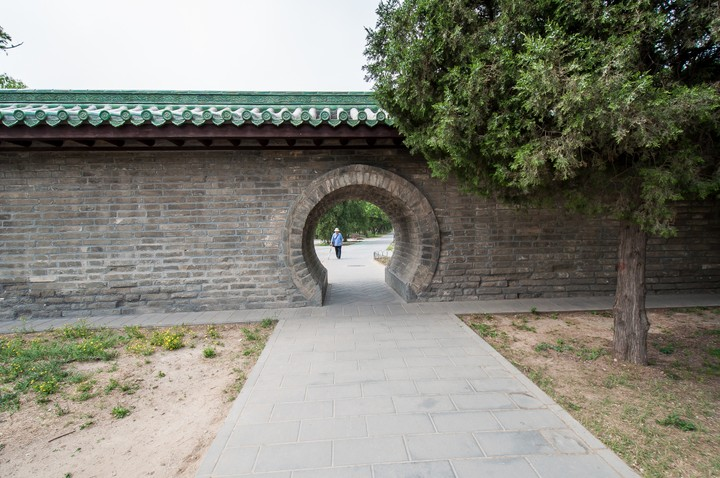 Open gate at the Temple of Heaven in Beijing
