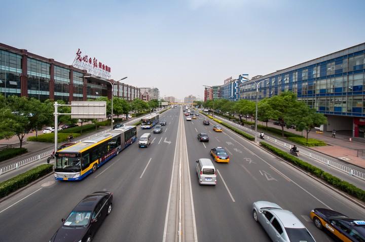 Thoroughfare in in Beijing