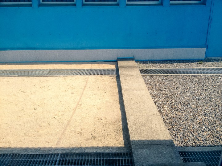 The border between North and South Korea at the Joint Security Area