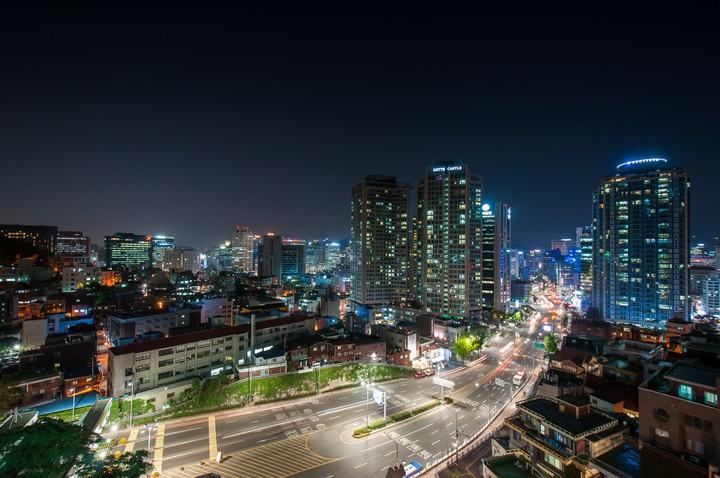 Seoul streets at night