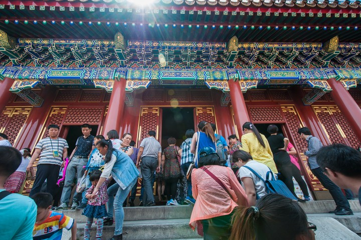 Crowds at the Summer Palace in Beijing