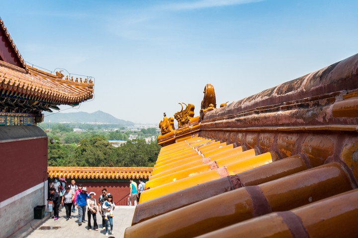Roof ornaments at the Summer Palace in Beijing