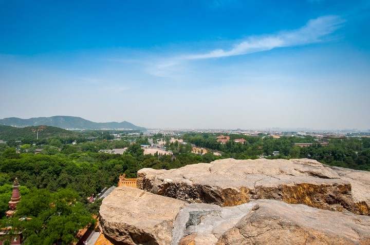 View towards Beijing from the Summer Palace in Beijing