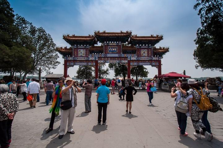 Gate at Kunming Lake at the Summer Palace in Beijing