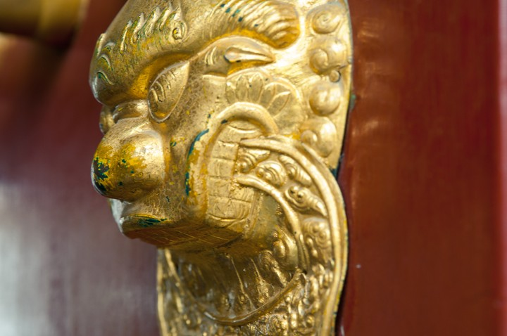 Door ornament at the the Summer Palace in Beijing