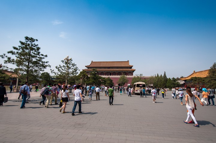 Entrance of the Forbidden City in Beijing