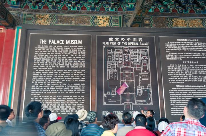 Map of the Forbidden City in Beijing