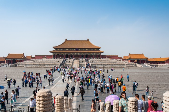 View of the the Forbidden City in Beijing