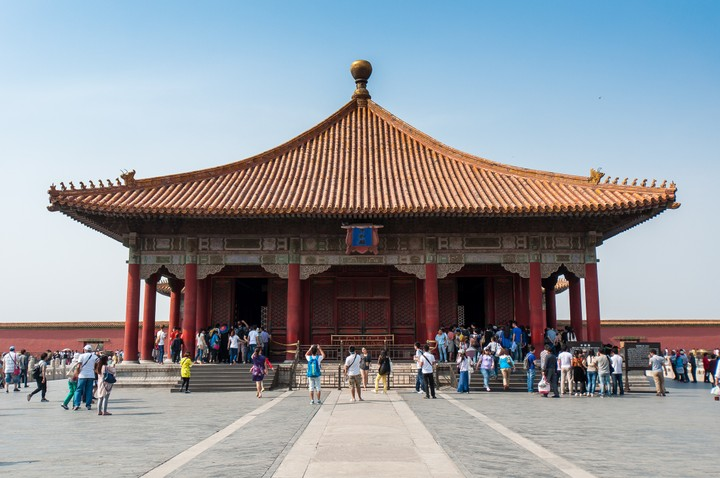 Structure at the Forbidden City in Beijing