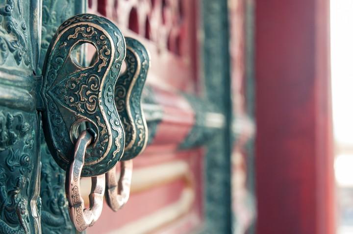 Door ornaments at the Forbidden City in Beijing
