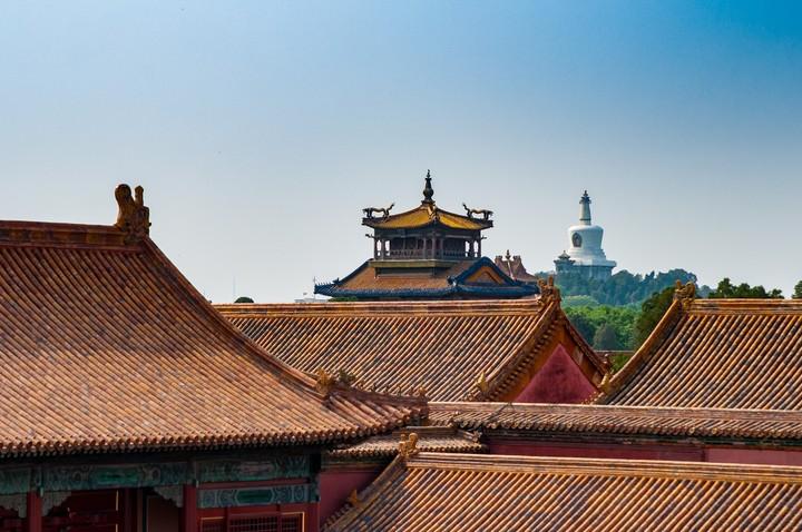 Roof view of the Forbidden City in Beijing