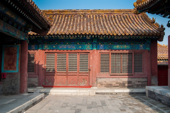 Back alleys at the Forbidden City in Beijing