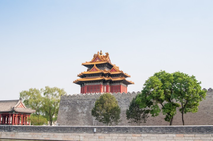 Outside wall of the Forbidden City in Beijing