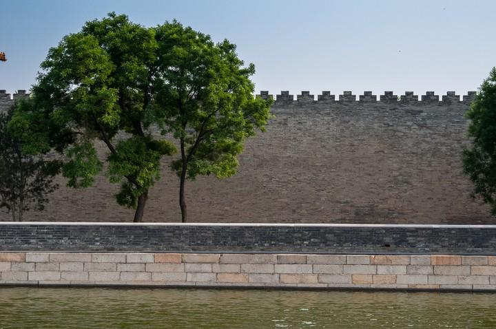 Wall of the Forbidden City in Beijing