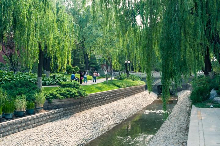 Stream near the Forbidden City in Beijing