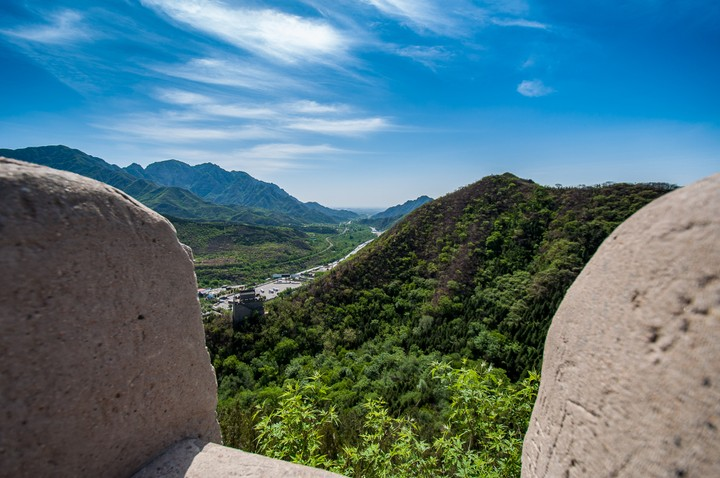 View towards Beijing from the Great Wall of China