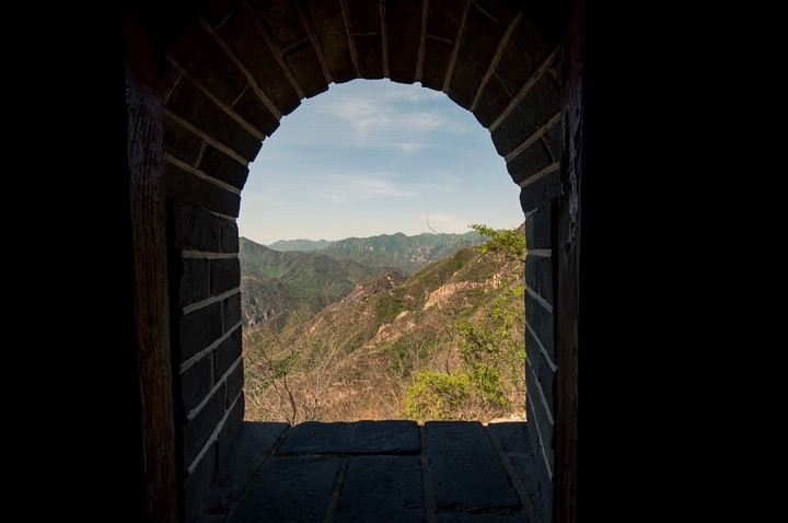 Window at the Great Wall of China