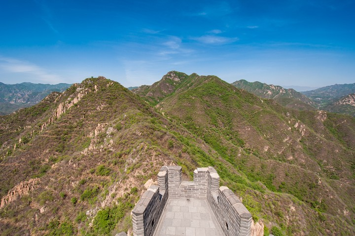 Watchtower view from the Great Wall of China