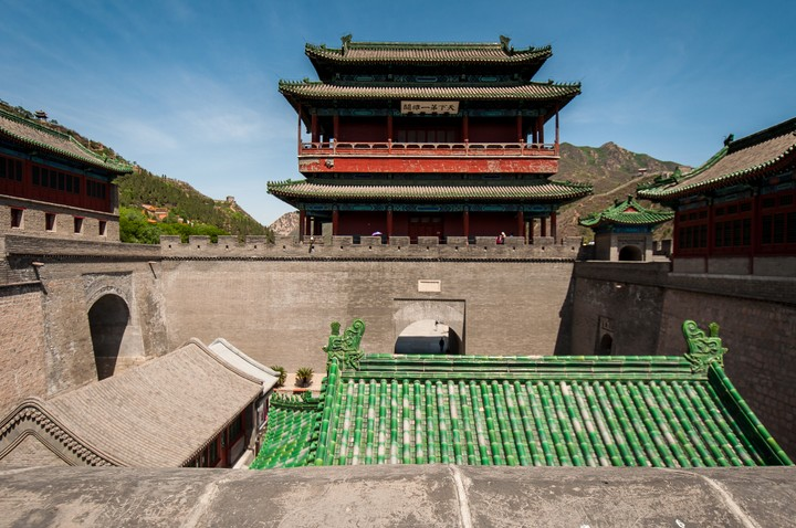 Gate tower at the Great Wall of China