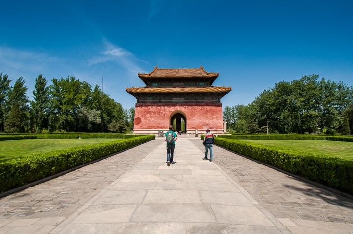 Gate house at the Emperors Tomb in Beijing