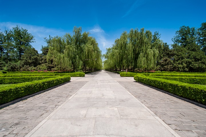 Path towards the Emperors Tomb in Beijing