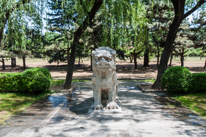 Stone animal at the Emperors Tomb in Beijing