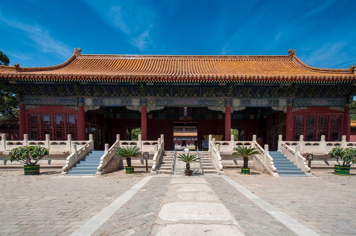 Building at the Emperors Tomb in Beijing