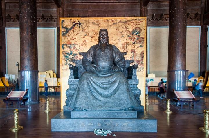 Statue of emperor at the Emperors Tomb in Beijing