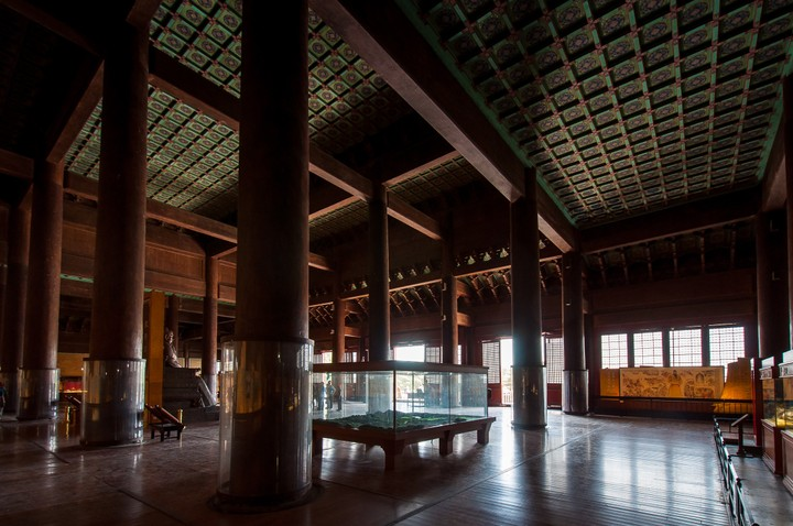 Inside the the Emperors Tomb in Beijing
