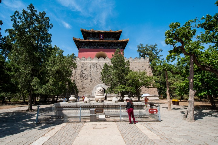Building with ancient relics at the Emperors Tomb in Beijing