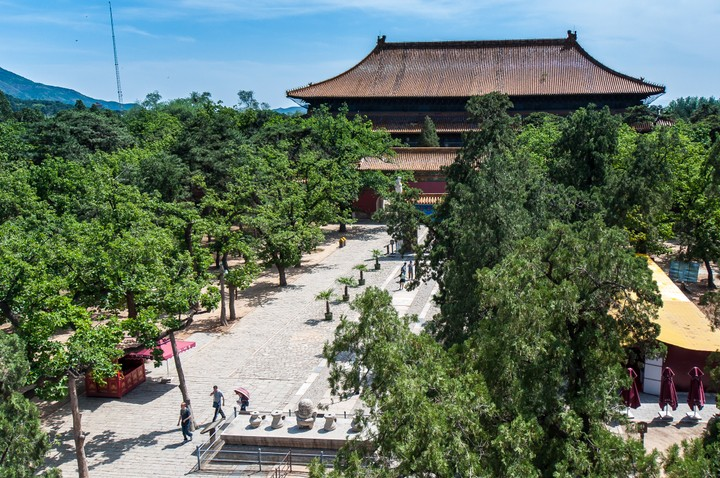 View from above at the Emperors Tomb in Beijing