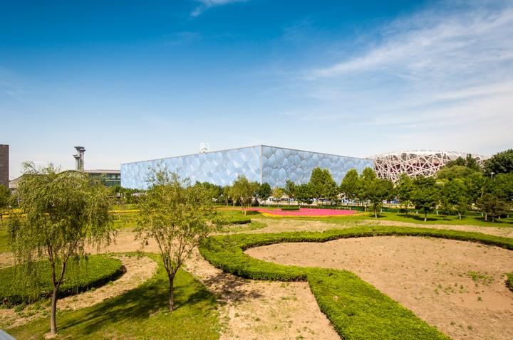 Olympic swimming pool in Beijing