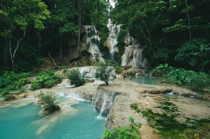 Waterfall in Vientale, Laos