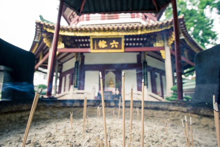 Temple with insence