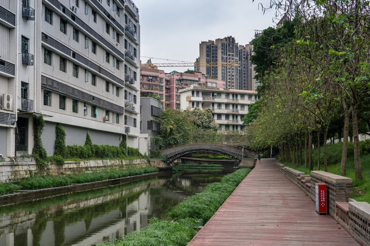 Walk next to a canal
