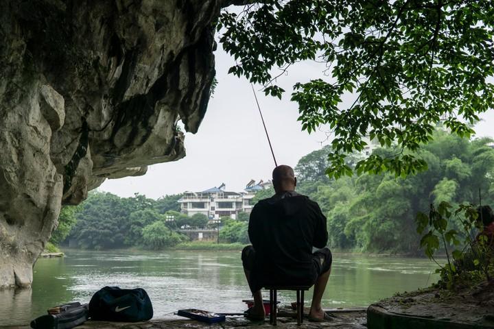 Man fishing